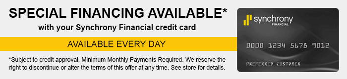 Special Financing Available through Synchrony Financial